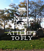 KEEP  CALM AND ATTEMPT TO FLY - Personalised Poster A4 size
