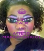 KEEP CALM AND ATTEND  MAKEUP SCHOOL - Personalised Poster A4 size