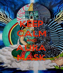 KEEP CALM AND AURA MASK - Personalised Poster A4 size