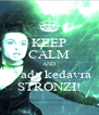 KEEP CALM AND avada kedavra STRONZI! - Personalised Poster A4 size