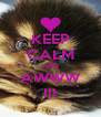 KEEP CALM AND AWWW !!! - Personalised Poster A4 size