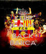 KEEP CALM AND BACK BARCA - Personalised Poster A4 size