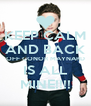KEEP CALM AND BACK OFF CONOR MAYNARD IS ALL MINE!!!! - Personalised Poster A4 size