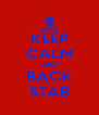 KEEP CALM AND BACK STAB - Personalised Poster A4 size