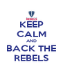 KEEP CALM AND BACK THE REBELS - Personalised Poster A4 size