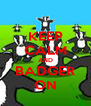 KEEP CALM AND BADGER ON - Personalised Poster A4 size