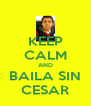 KEEP CALM AND BAILA SIN CESAR - Personalised Poster A4 size