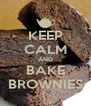 KEEP CALM AND BAKE BROWNIES - Personalised Poster A4 size