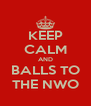 KEEP CALM AND BALLS TO THE NWO - Personalised Poster A4 size