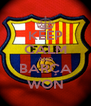 KEEP CALM AND BARÇA WON - Personalised Poster A4 size