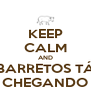 KEEP CALM AND BARRETOS TÁ CHEGANDO - Personalised Poster A4 size