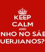 KEEP CALM AND BARZINHO NO SÁBADO, UERJIANOS? - Personalised Poster A4 size