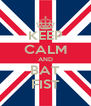 KEEP CALM AND BAT FIST - Personalised Poster A4 size