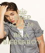KEEP CALM AND BE A  BIEBERBOY - Personalised Poster A4 size