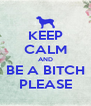 KEEP CALM AND BE A BITCH PLEASE - Personalised Poster A4 size