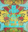 KEEP CALM AND be a bohemian - Personalised Poster A4 size