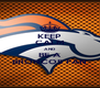 KEEP CALM AND BE A BRONCOS FAN - Personalised Poster A4 size