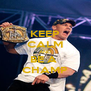 KEEP CALM AND BE A  CHAMP - Personalised Poster A4 size