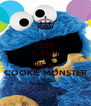 KEEP CALM AND BE A COOKIE MONSTER - Personalised Poster A4 size