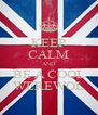 KEEP CALM AND BE A COOL WEREWOL - Personalised Poster A4 size