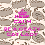 KEEP CALM AND BE A CRAZY CAT LADY - Personalised Poster A4 size