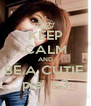 KEEP CALM AND BE A CUTIE  pie  <3 - Personalised Poster A4 size