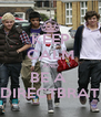 KEEP CALM AND BE A  DIRECTBRAT - Personalised Poster A4 size
