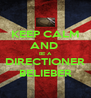 KEEP CALM AND  BE A DIRECTIONER BELIEBER - Personalised Poster A4 size