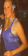 KEEP CALM AND BE A..... DIVA!!! - Personalised Poster A4 size