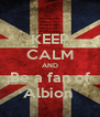 KEEP CALM AND Be a fan of Albion  - Personalised Poster A4 size