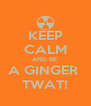 KEEP CALM AND BE  A GINGER  TWAT! - Personalised Poster A4 size