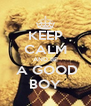 KEEP CALM AND BE  A GOOD BOY - Personalised Poster A4 size