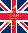 KEEP CALM AND be a huge fan of Mr. stamps cat - Personalised Poster A4 size