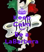 Keep Calm and Be a LaBarbera - Personalised Poster A4 size