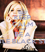 KEEP CALM AND BE A LITTLE BLACK STAR - Personalised Poster A4 size