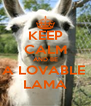 KEEP CALM AND BE A LOVABLE  LAMA - Personalised Poster A4 size