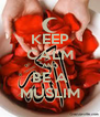 KEEP CALM AND BE A MUSLIM - Personalised Poster A4 size