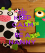KEEP CALM AND BE A NANNY - Personalised Poster A4 size