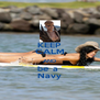 KEEP CALM AND be a  Navy - Personalised Poster A4 size