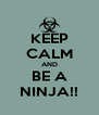 KEEP CALM AND BE A NINJA!! - Personalised Poster A4 size