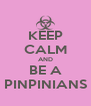 KEEP CALM AND BE A PINPINIANS - Personalised Poster A4 size