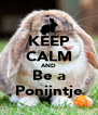 KEEP CALM AND Be a Ponijntje - Personalised Poster A4 size