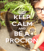 KEEP CALM AND BE A PROCION - Personalised Poster A4 size