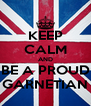 KEEP CALM AND BE A PROUD GARNETIAN - Personalised Poster A4 size