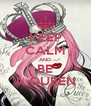 KEEP CALM AND BE A QUEEN - Personalised Poster A4 size