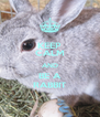 KEEP CALM AND BE A RABBIT - Personalised Poster A4 size