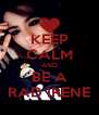 KEEP CALM AND BE A RAD IRENE - Personalised Poster A4 size