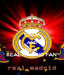 KEEP CALM AND BE A  REAL MADRID FAN - Personalised Poster A4 size