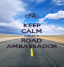 KEEP CALM AND BE A ROAD AMBASSADOR - Personalised Poster A4 size