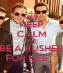 KEEP CALM AND BE A RUSHER FOR LIFE	 - Personalised Poster A4 size